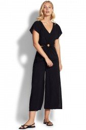 Jumpsuit Seafolly Spirit Animal Keyhole Cutaway Black