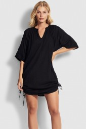 Ingruha Seafolly Crinkle Cotton Black