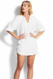 Ingruha Seafolly Crinkle Cotton White