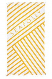 Törülköző Seafolly Angled Stripe Beach Buttercup