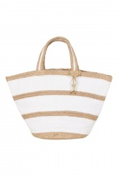 Táska Seafolly Stripe Jute Basket Natural