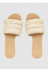 Papucs Seafolly Fringe Natural