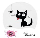 """Úszósapka Mintás Limited Design Felnőtt """"Black Cat"""""""