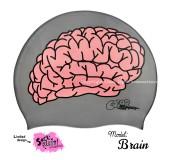 """Úszósapka Mintás Limited Design Felnőtt """"Brain"""""""