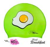 """Úszósapka Mintás Limited Design Felnőtt """"Breakfast"""""""