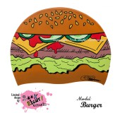 """Úszósapka Mintás Limited Design Felnőtt """"Burger"""""""