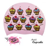 """Úszósapka Mintás Limited Design Felnőtt """"Cupcake"""""""
