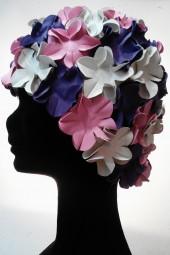 Úszósapka Flower - fehér-rózsaszín-lila