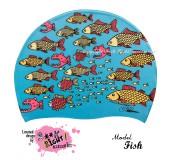 """Úszósapka Mintás Limited Design Felnőtt """"Fish"""""""