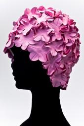 Úszósapka Flower - rózsaszín