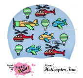 """Úszósapka Mintás Limited Design Gyerek """"Helicopter Fan"""""""