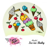 """Úszósapka Mintás Limited Design Felnőtt """"Ice Ice Baby"""""""