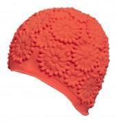 Úszósapka Latex - narancssárga krizantém