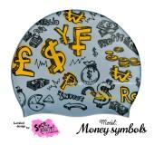 """Úszósapka Mintás Limited Design Felnőtt """"Money symbols"""""""