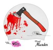 """Úszósapka Mintás Limited Design Felnőtt """"Murder"""""""
