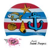 """Úszósapka Mintás Limited Design Felnőtt """"Saint Tropez"""""""