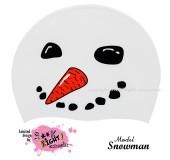 """Úszósapka Mintás Limited Design Felnőtt """"Snowman"""""""