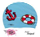 """Úszósapka Mintás Limited Design Felnőtt """"Striped"""""""