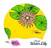 """Úszósapka Mintás Limited Design Felnőtt """"Water Lily"""""""