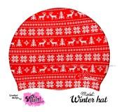 """Úszósapka Mintás Limited Design Felnőtt """"Winter hat"""""""
